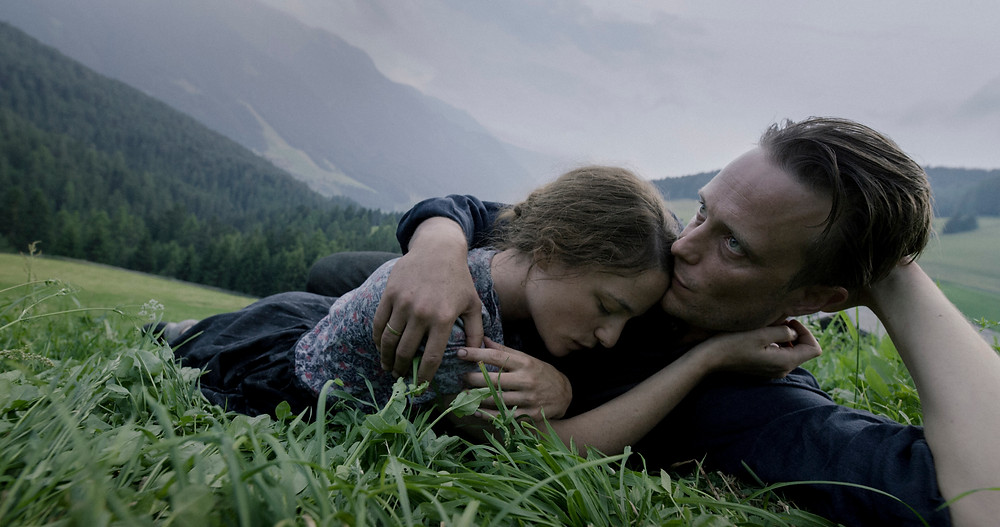 Valerie Pachner and August Diehl in Terrence Malick's A Hidden Life