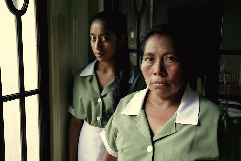 Maria Mercedes Coroy and Maria Telon in Jayro Bustamante's La Llorona