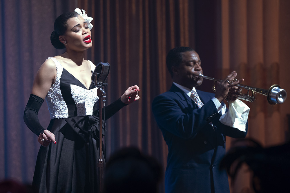 Andra Day and Kevin Hanchard in Lee Daniels' The United States vs. Billie Holiday