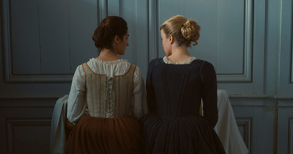 Noemie Merland and Adele Haenel in Celine Sciamma's Portrait of a Lady on Fire