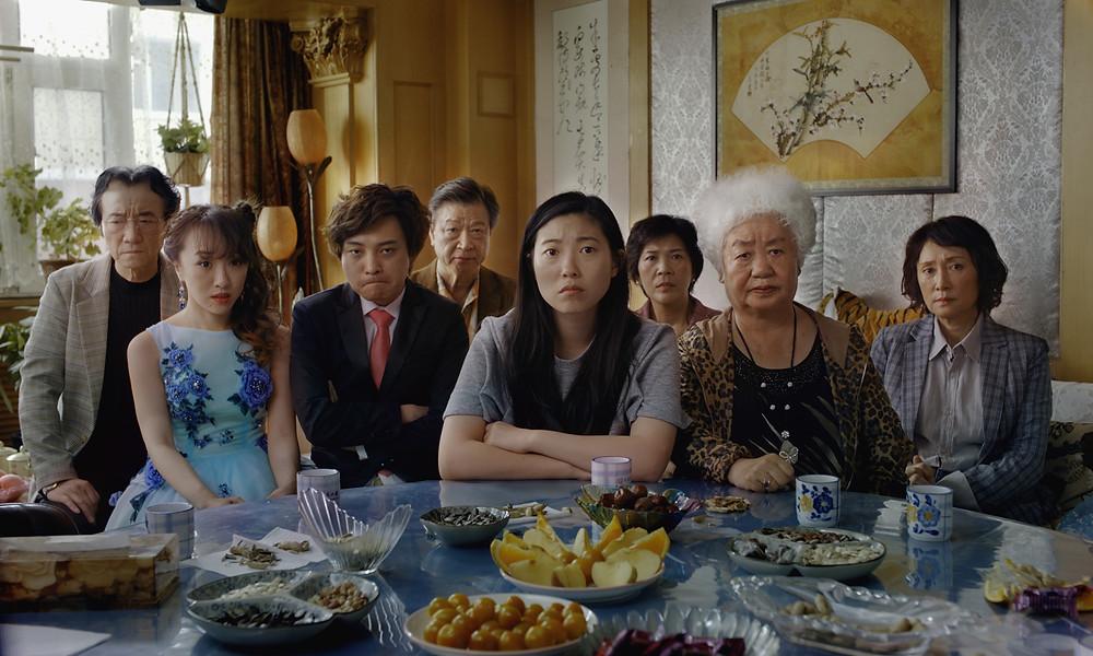Jiang Yong Bo, Mizuhara Aoi, Chen Han, Tzi Ma, Awkwafina, Liu Hong Li, Lu Hong and Diana Lin in Lulu Wang's The Farewell
