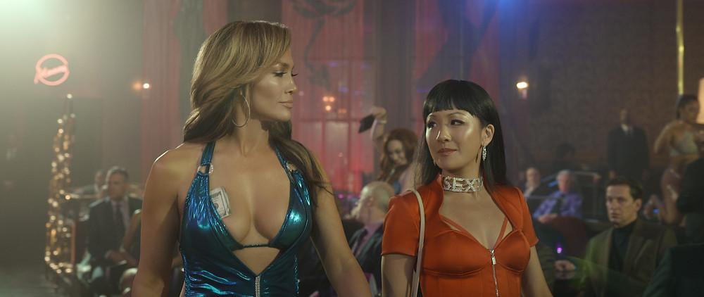 Jennifer Lopez and Constance Wu in Lorene Scafaria's Hustlers