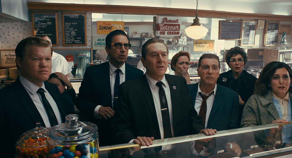 Jesse Plemons, Ray Romano, Robert de Niro and Al Pacino in Martin Scorsese's The Irishman