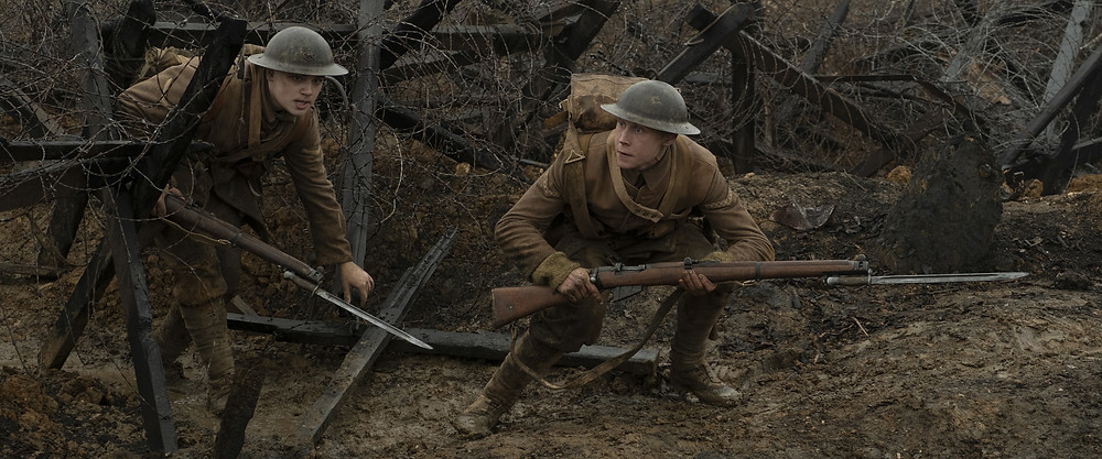 Dean-Charles Chapman and George MacKay in Sam Mendes' 1917