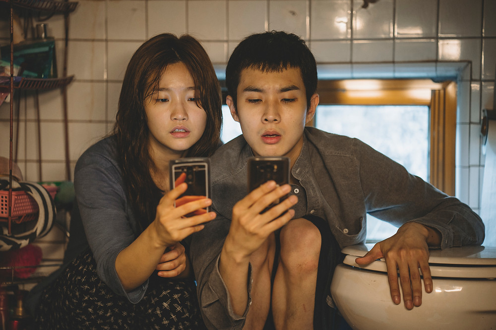 Park So Dam and Choi Woo Shik in Bong Joon Ho's Parasite