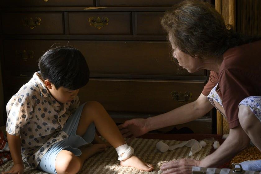 Alan S. Kim and Youn Yuh Jung in Lee Isaac Chung's Minari