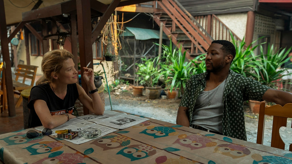 Melanie Thierry and Jonathan Majors in Spike Lee's Da 5 Bloods