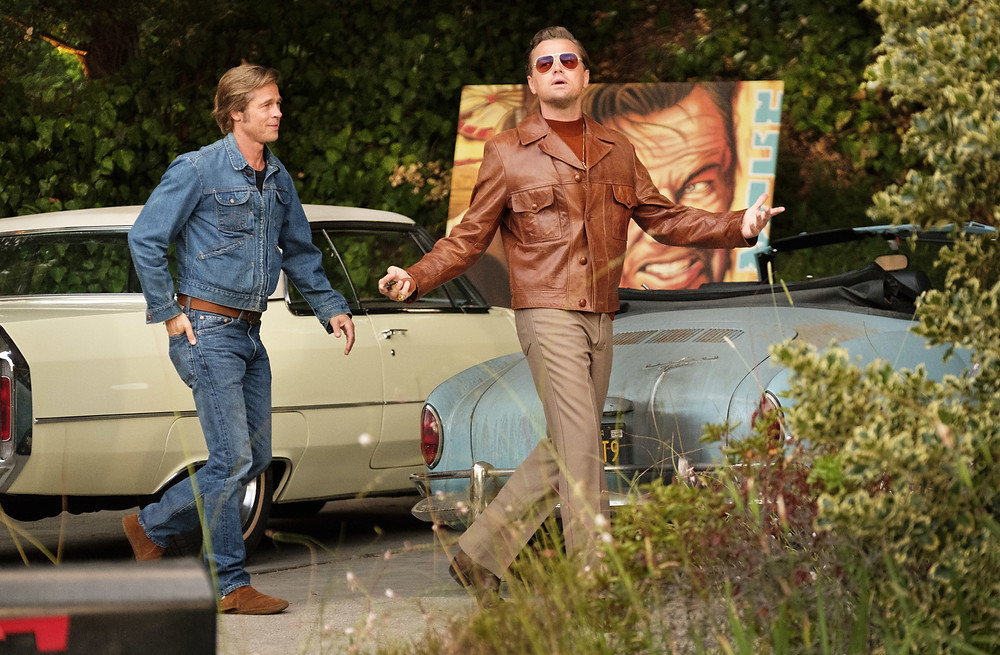 Brad Pitt and Leonardo DiCaprio in Quentin Tarantino's Once Upon a Time... in Hollywood