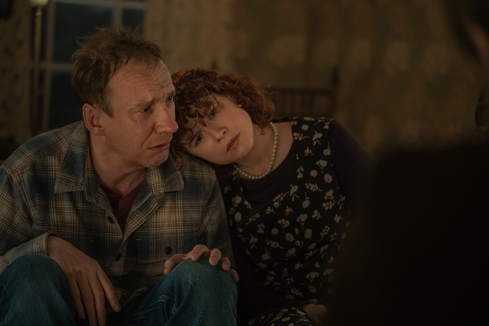 David Thewlis and Jessie Buckley in Charlie Kaufman's I'm Thinking of Ending Things