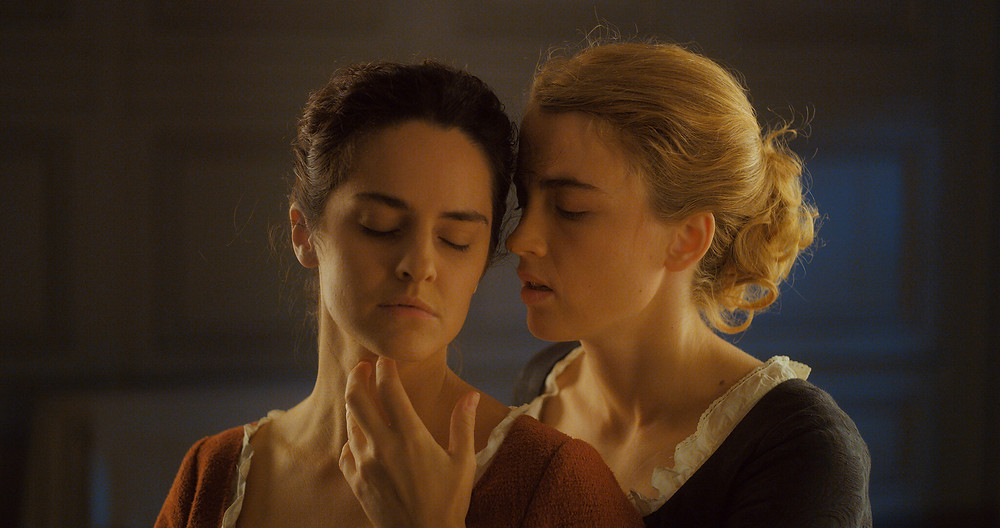 Noemie Merlant and Adele Haenel in Celine Sciamma's Portrait of a Lady on Fire