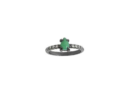 anillo mini cobra turquoise drop