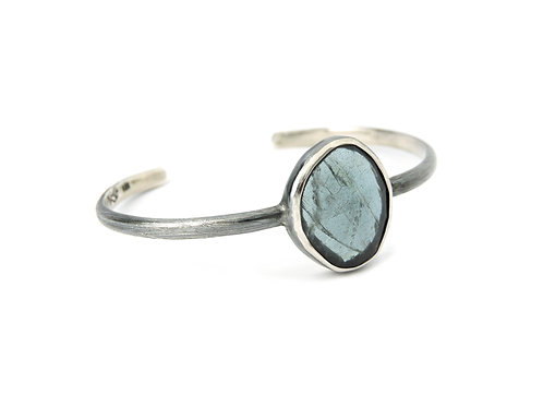 bracelet rayada moss aquamarine