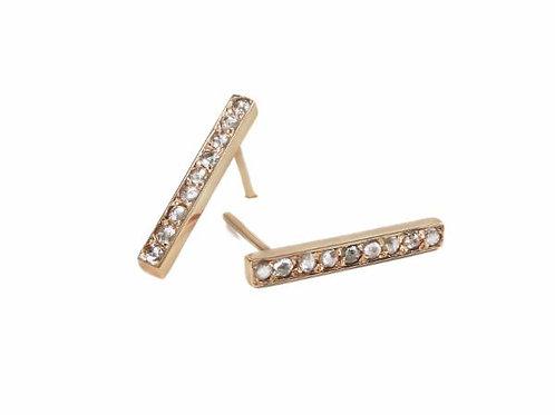 earring cris pink  diamonds
