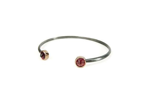 bracelet two mini garnet