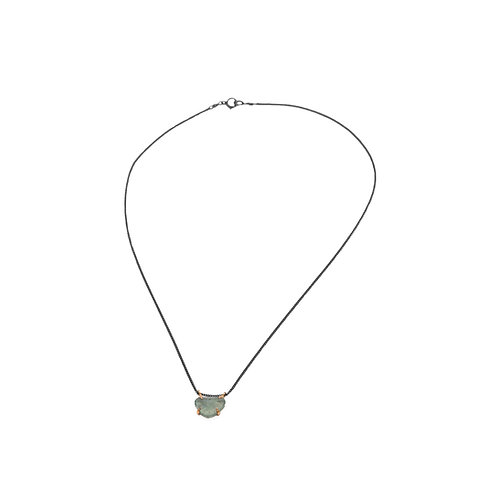 necklace garra moss aquamarine