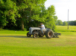 Aerating the Greens
