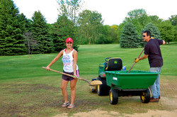 Sanding the Aerated Greens