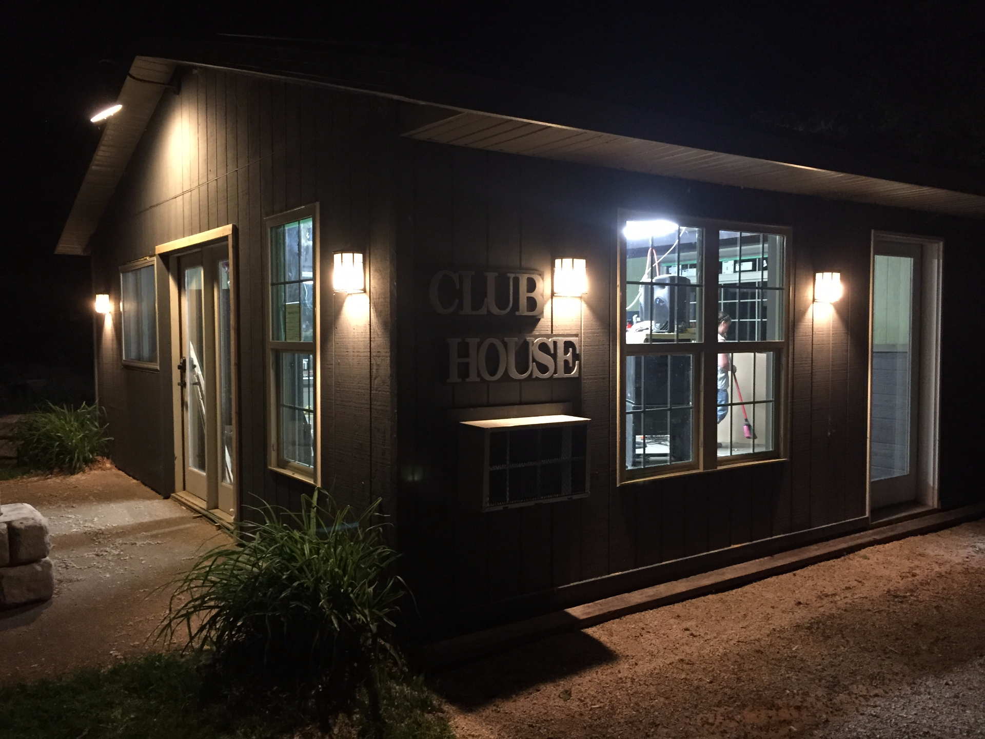 The Clubhouse after dark!
