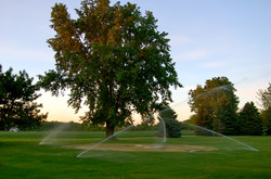 Watering the Green on Hole 9