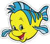 Disney Princess - Ariel Flounder 14in.pn