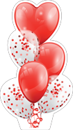 MYC-Balloons-Red-n-White-with-heart-Bouq