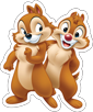 MYC Disney Characters - Chip n Dale 16in