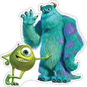 MYC Disney Characters - Sully and Mike W
