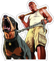 MYC-GTA Franklin and Dog 19in.png