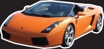 MYC-GTA Lamborghini Gallardo Orange 16in