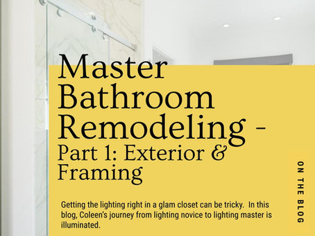 Master Bathroom Remodeling Part 1 -Exterior & Framing