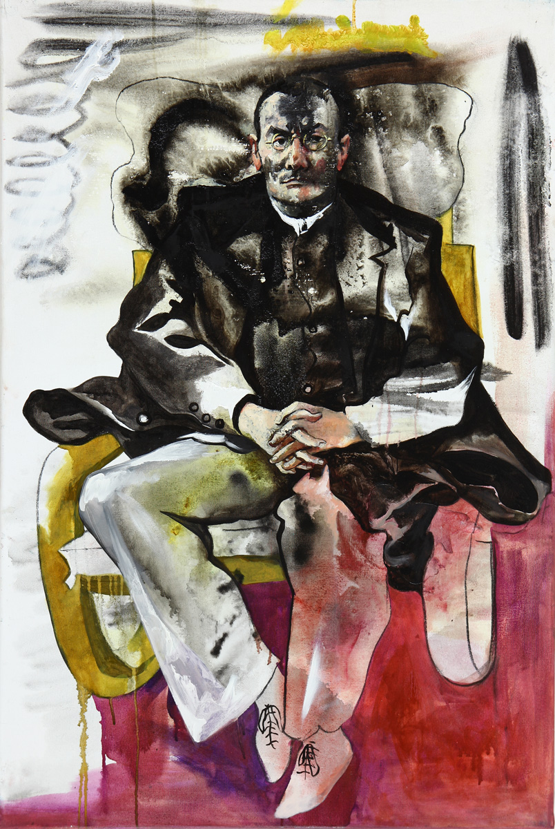 Michael in a chair 120x80cm canvas oil 2015 s