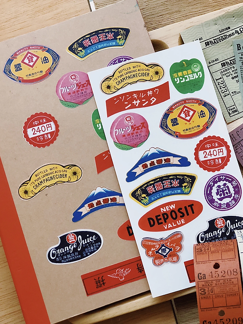 Stickerrific | Stickers | Vintage Japanese Labels