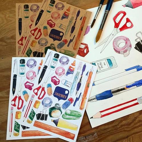Stickerrific    Postcard   Stationery