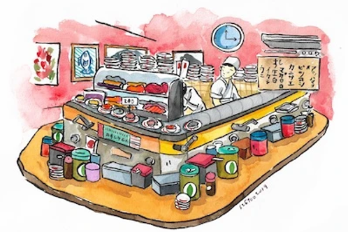 Stickerrific  | Postcard | Sushi Bar