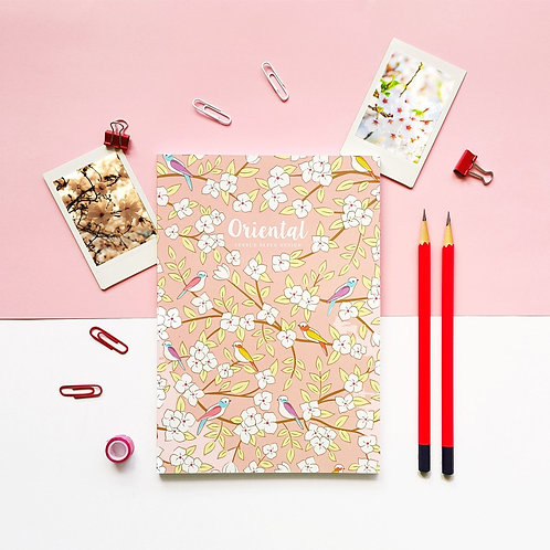 Pebble Paper Design | Notebook | Oriental Series | Spring Birds
