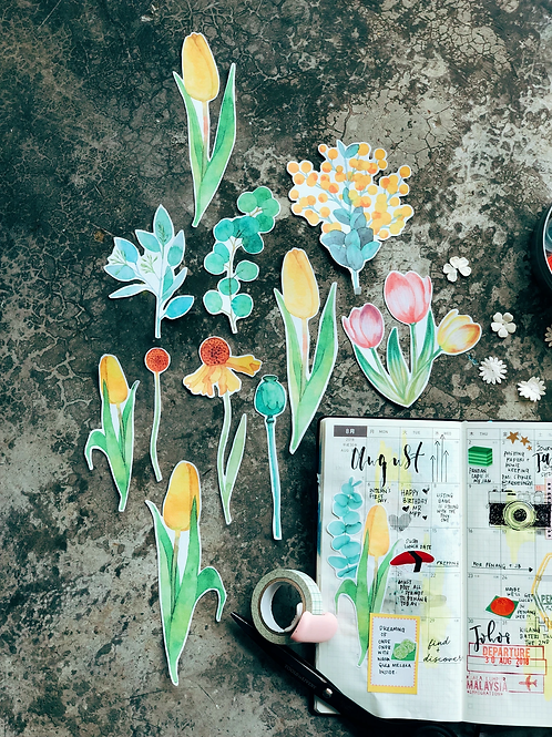 My Paper Projects | Stickers | Transparent Tulips