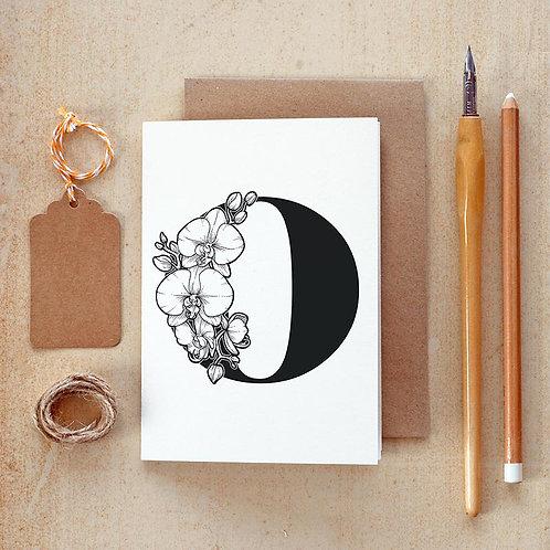 Salt x Paper | Greeting Card | The Alphabet Blossom Series | O