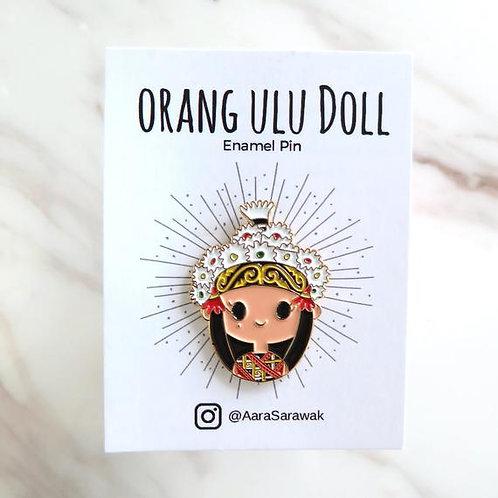 Aara Sarawak | Pins | Sarawak Dolls | Orang UluAara doll pin dressed in the trad