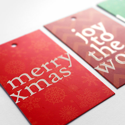 Salt x Paper | Gift Tags | Christmas Spirit | Green and Red