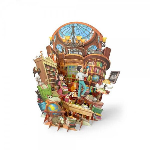 Loka Made   360° 3D Greeting Cards   TP07 Peaceful Hours in the Study