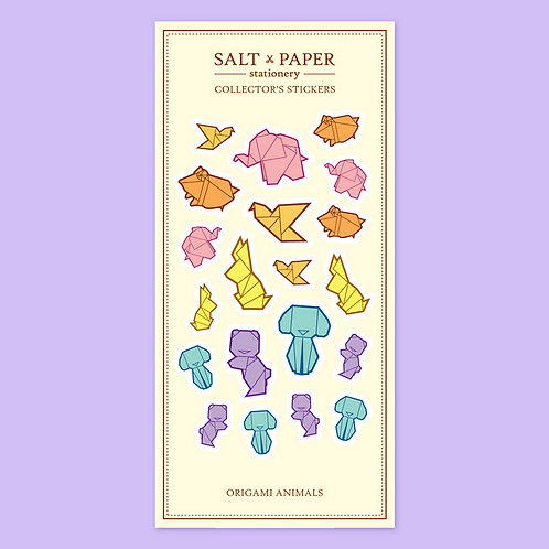 Salt x Paper | Collectors' Stickers | Origami Animals