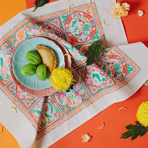 Bingka | Tea Towel | Peranakan Tiles