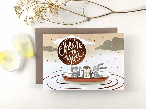 Whimsy Whimsical | Greeting Card | Cheers to You