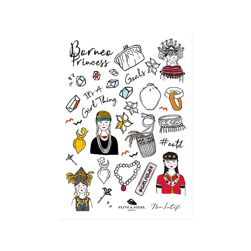 Interractive Stickers   Borneo Princess