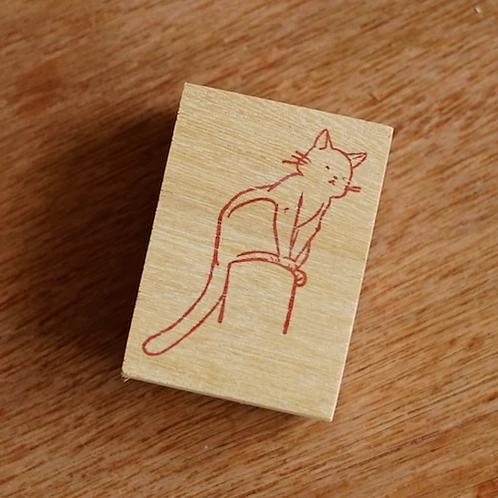Stickerrific   Stamp   Perching Cats