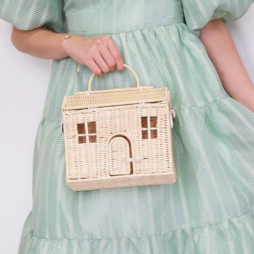Rattan Doll-House Bag