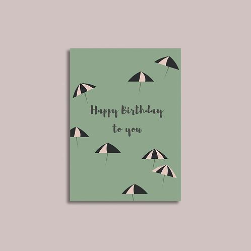 EJ Memento | Cards | Happy Birthday with Umbrella