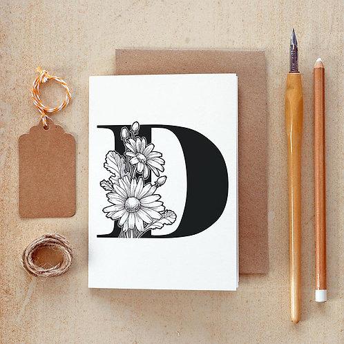 Salt x Paper | CGreeting Card | The Alphabet Blossom Series | D