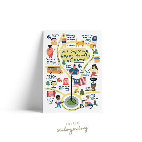Projek Sembang Sembang | Postcards | Happy Family