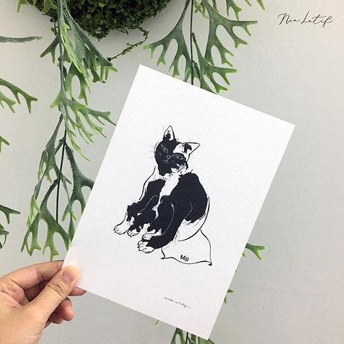 Nia Latif | A5 Art Print | Miji